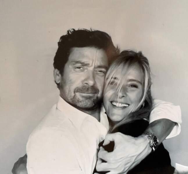 Pascal Balland, avec Marie Poniatowski, amie de Laeticia Hallyday, en janvier 2020