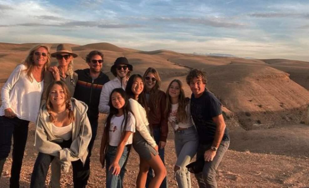 Laeticia Hallyday et Pascal Balland, au Maroc, pour les fêtes de la fin d'année 2019
