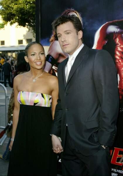 Jennifer Lopez et Ben Affleck en février 2003, à West Hollywood
