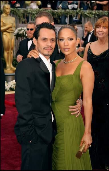 Jennifer Lopez et Marc Anthony aux Oscars 2006