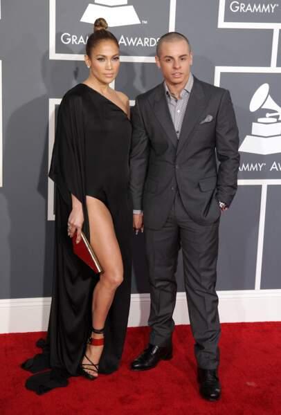 Jennifer Lopez et Casper Smart aux Grammy Awards, en février 2013