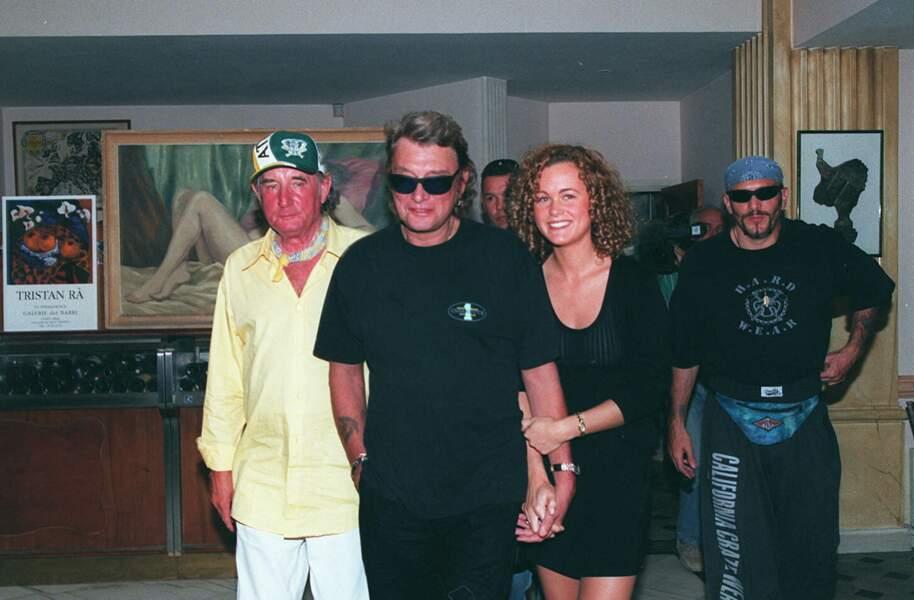 Laeticia et Johnny Hallyday, à Saint-Tropez, en 1995