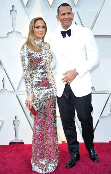 Jennifer Lopez et Alex Rodriguez aux Oscars 2019, à Los Angeles