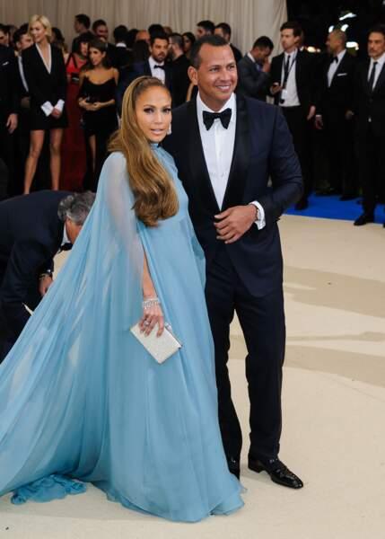 Jennifer Lopez et Alexander Rodriguez, au MET 2017, en mai à New York