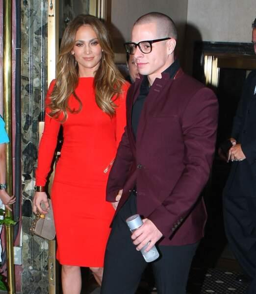 Jennifer Lopez célèbre son anniversaire avec son petit ami Casper Smart, le 24 juillet 2012 à New York