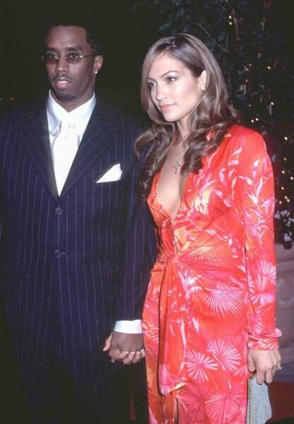 Jennifer Lopez et Puff Daddy en février 2000 à Los Angeles