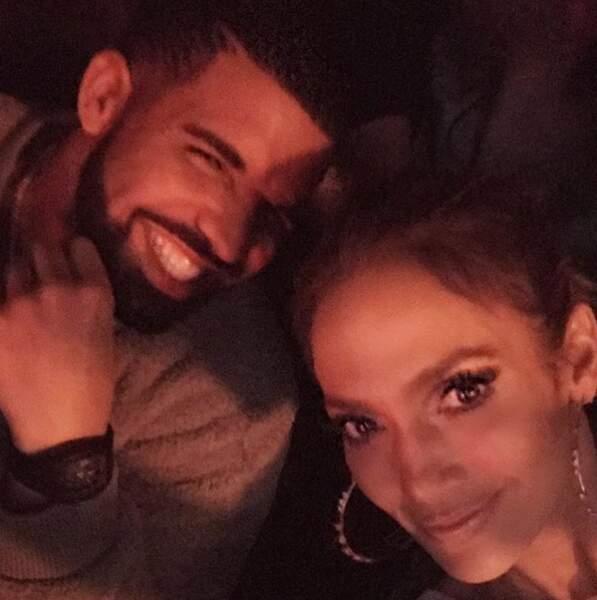 Drake et Jennifer Lopez sur Instagram en décembre 2016