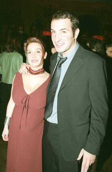Jean Dujardin et sa femme Gaëlle Demars, en mars 2003