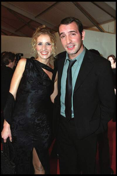 Alexandra Lamy et Jean Dujardin aux 7 d'or, en octobre 2001