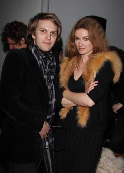 Florian Zeller et Marine Delterme à Paris en janvier 2011