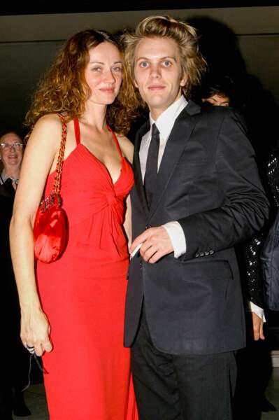 Florian Zeller et Marine Delterme à Paris en octobre 2004