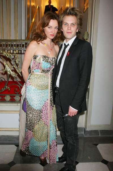 Florian Zeller et Marine Delterme lors d'une soirée pour le Sidaction à Paris en janvier 2006