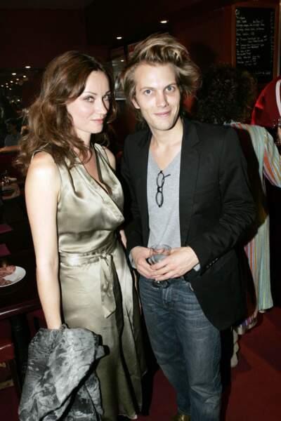 Florian Zeller et Marine Delterme à Paris en septembre 2004