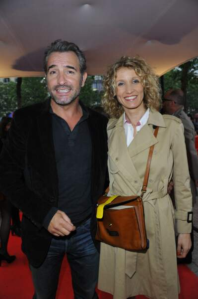 Jean Dujardin et Alexandra Lamy en juin 2012, au Gaumont Marignan