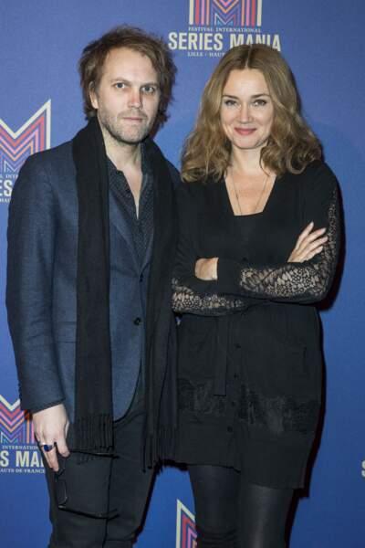 Florian Zeller et Marine Delterme à Paris en janvier 2019
