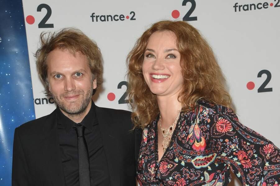 Florian Zeller et Marine Delterme aux Molières à Paris en mai 2018