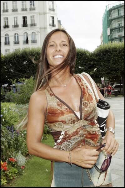 Nathalie Marquay en septembre 2005 à Levallois-Perret pour le mariage d'Henri Leconte