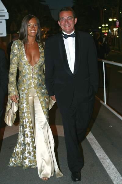 Nathalie Marquay et son mari Jean-Pierre Pernaut, en 2002, à Cannes