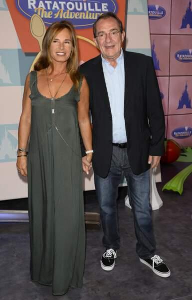 Nathalie Marquay et Jean-Pierre Pernaut, en 2014 à Disneyland