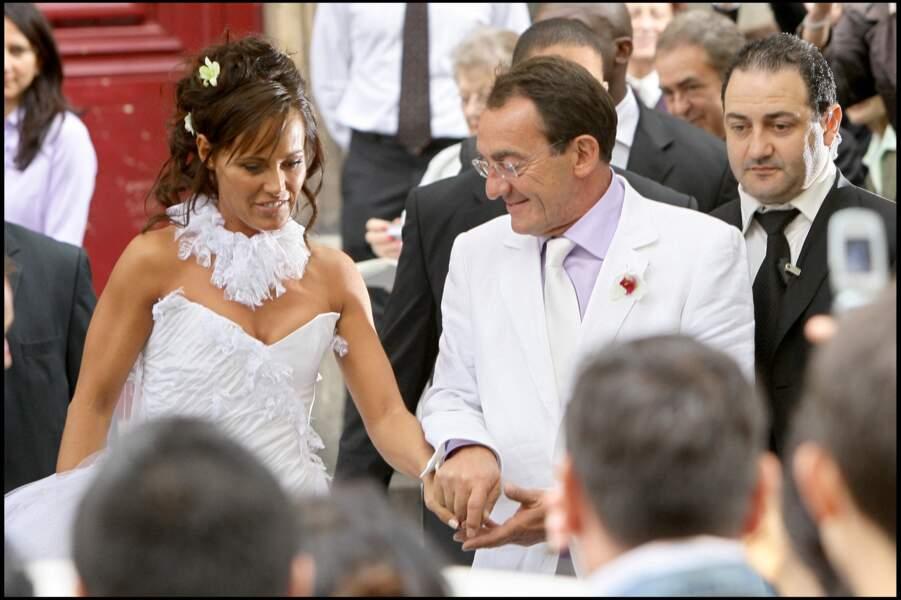 Nathalie Marquay et Jean-Pierre Pernaut lors de leur mariage, en juin 2007 à Paris