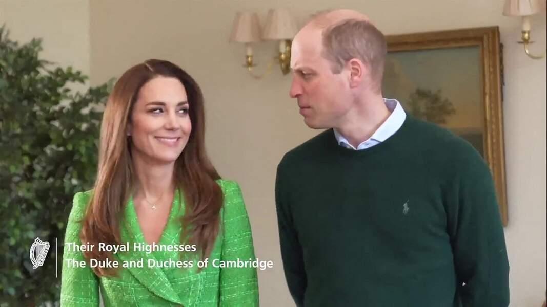 Kate et William complices en visio pour souhaiter une joyeuse Saint-Patrick aux Irlandais le 17 mars 2021
