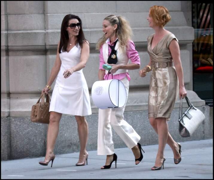 Le tailleur façon working girl de Carrie Bradshaw (alias Sarah Jessica Parker) dans Sex and The City