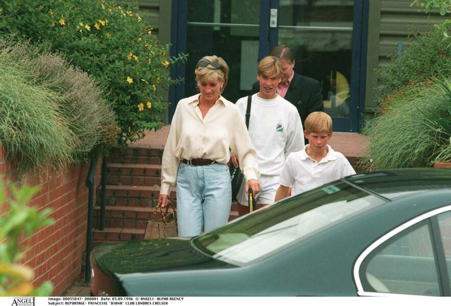 Diana, William et Harry
