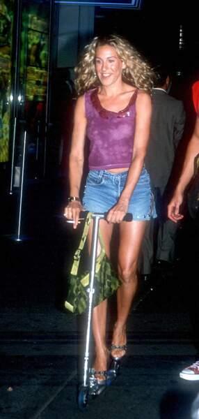 Le mini short en jean de Carrie Bradshaw (alias Sarah Jessica Parker dans Sex and The City ).
