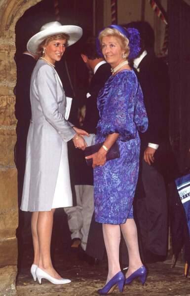 Frances Shand Kydd et Lady Diana le 16 septembre 1989