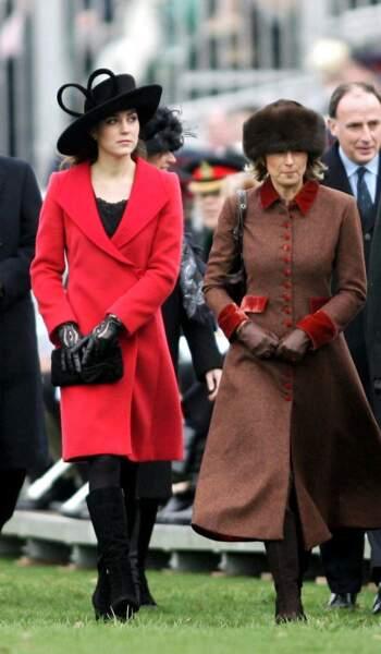 Carole et Kate Middleton le 15 décembre 2006