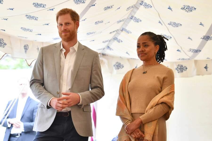 Doria Ragland et le prince Harry à Londres le 20 septembre 2018