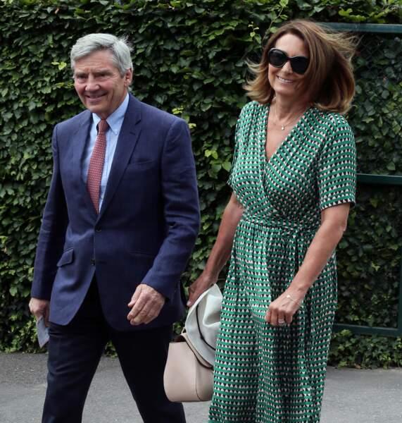 Carole et Michael Middleton à Londres en juillet 2019