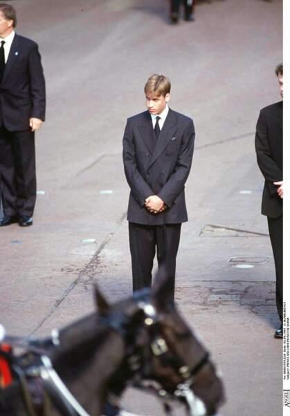 Le prince William aux funérailles de sa mère