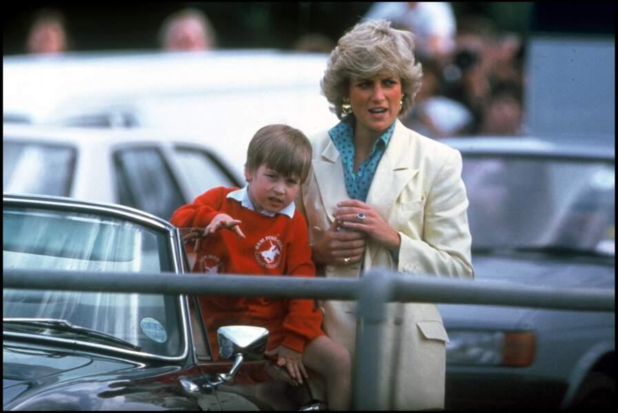 Mère et fils en 1987