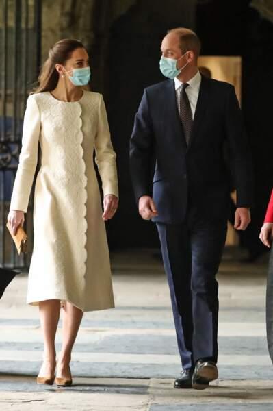 Kate Middleton et William visitent le centre de vaccination de l'Abbaye de Westminster