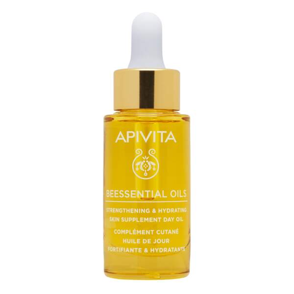 Huile de jour Gamme Beessentials Oils, 15ml, 37€, Apivita, Disponibles en pharmacies