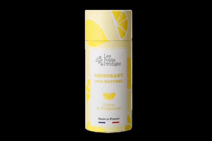 Déodorant Citron & Bergamote, Les Petits Prödiges, 12,90€, monoprix et lespetitsprodiges.com.