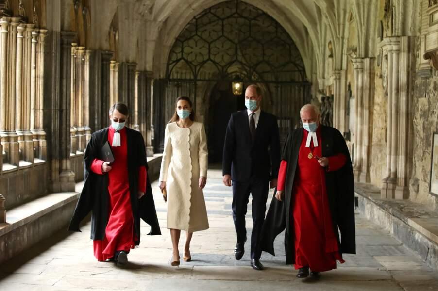 Kate Middleton et William de passage à l'Abbaye de Westminster à l'occasion du National Day of Reflection