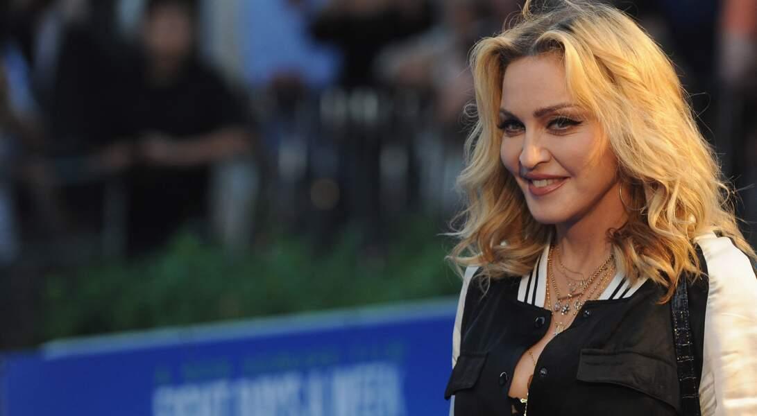 Madonna à la première de The Beatles: Eight Days A Week - The Touring Years au cinéma Odeon à Leicester Square à Londres, le 15 septembre 2016.