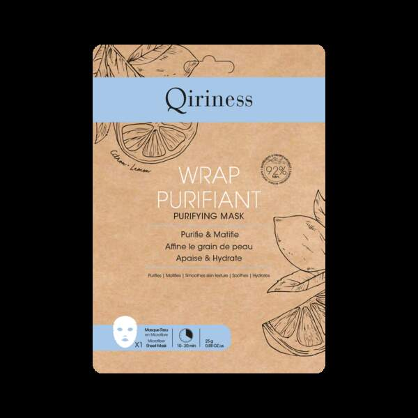 Masque Wrap Monodose Purifiant ( 4,90€ - 25g ), Qiriness sur www.qiriness.com et chez Marionnaud