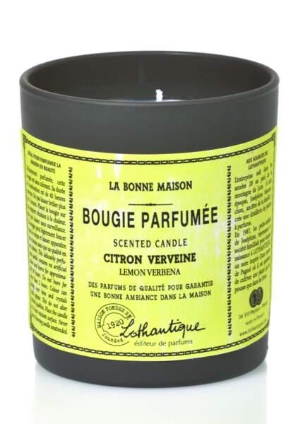 Bougie Parfumée Citron Verveine, Lothantique, 160 gr, 16,50€, lothantique.com