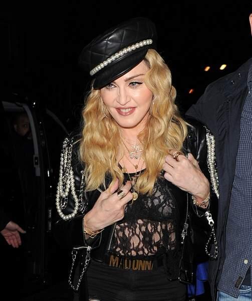Madonna à une soirée privée Mert & Marcus: Works 2001-2014 au nightclub Mark dans le quartier de Mayfair à Londres, le 27 octobre 2016.