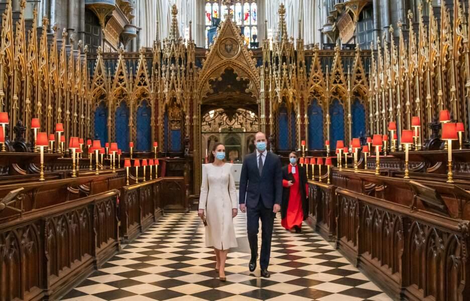 Kate Middleton et William à l'abbaye de Westminster, dix ans après leur mariage