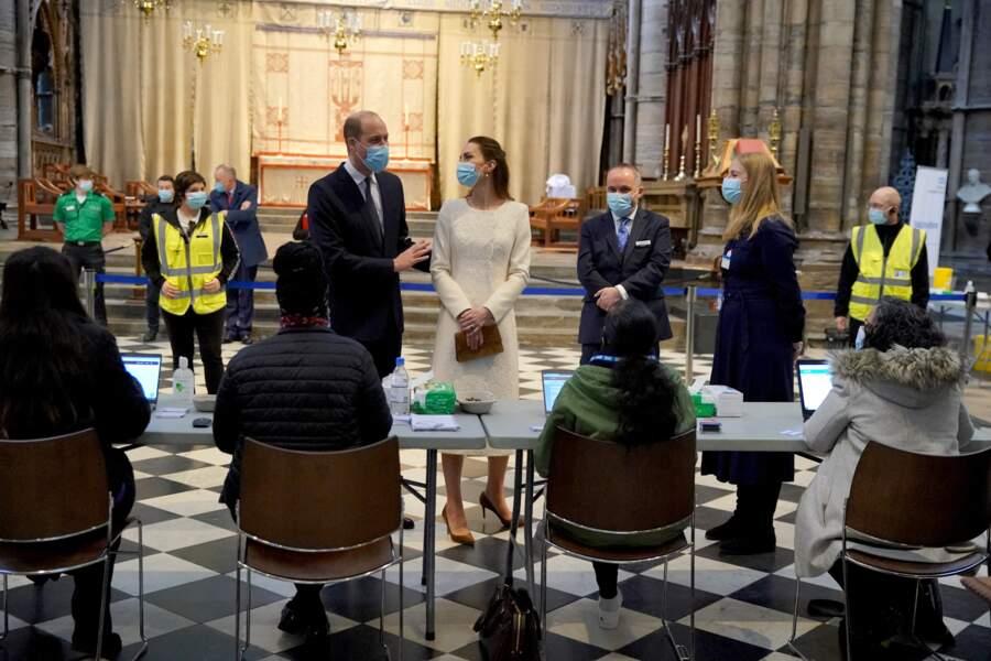 Kate Middleton et William ont rendu visite au personnel soignant à l'Abbaye de Westminster