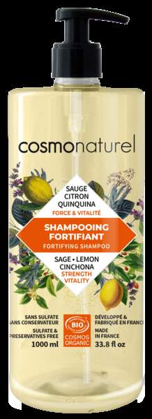 Shampoing fortifiant BIO Sauge & Citron - 1L - 13.90€, Cosmo Naturel, dans les magasins bio partenaires
