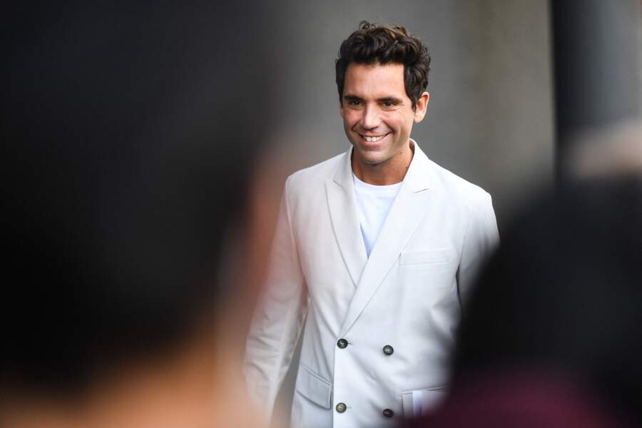 Mika à la Fashion week de Milan en 2020.