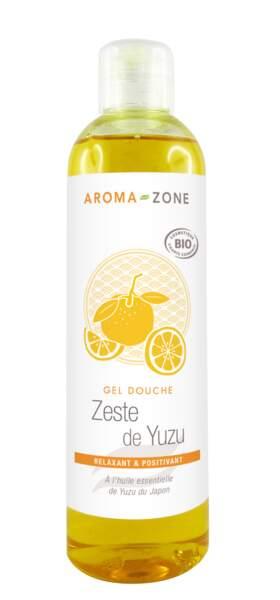 Gel douche zeste de Yuzu bio, Aroma-Zone, 250 ml, 3,50€, aroma-zone.com
