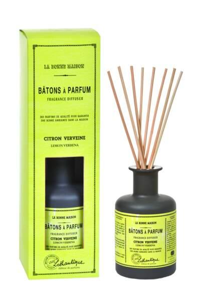 Bâtons à Parfums Citron Verveine, Lothantique, 200 ml, 29,50€, lothantique.com
