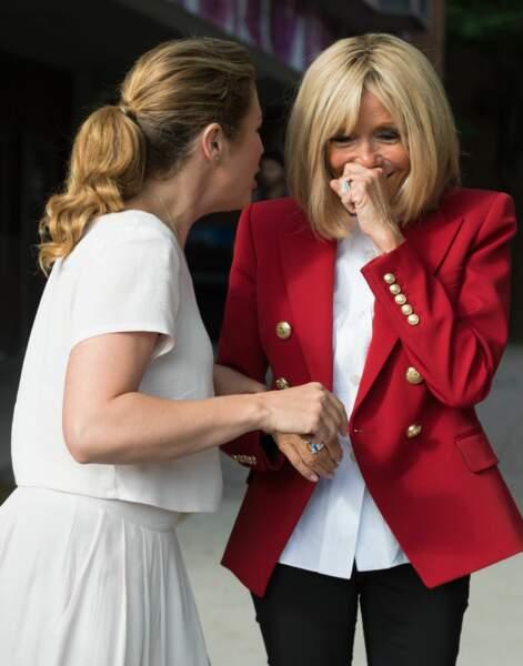 Sophie Gregoire Trudeau et Brigitte Macron à Ottawa en 2018.