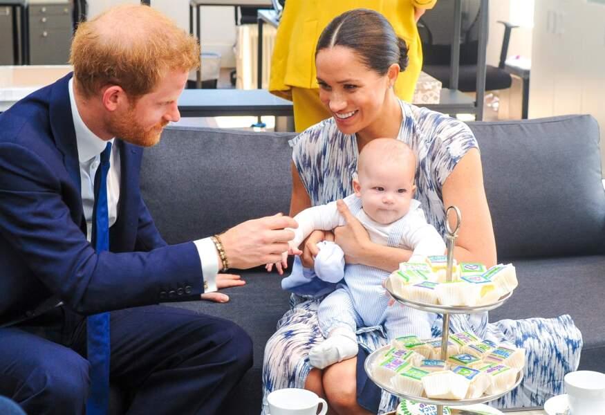 Harry, Meghan Markle et leur fils Archie